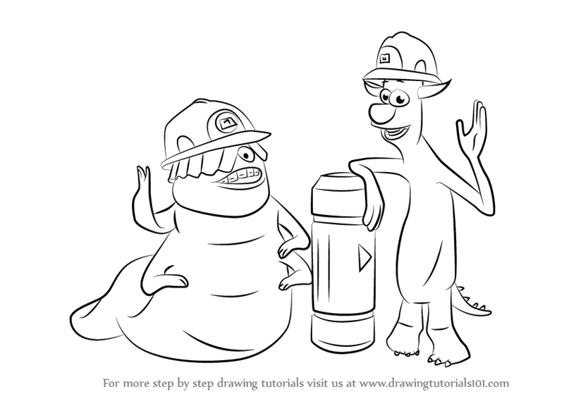 800x566 Learn How To Draw Smitty And Needleman From Monsters, Inc