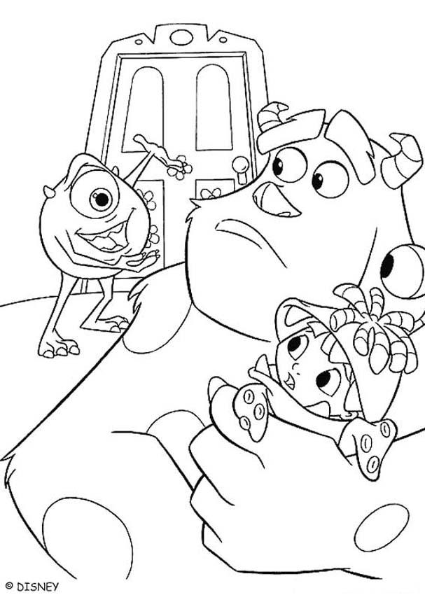 607x850 Remarkable Monsters Inc Coloring Pages 29 In Line Drawings With