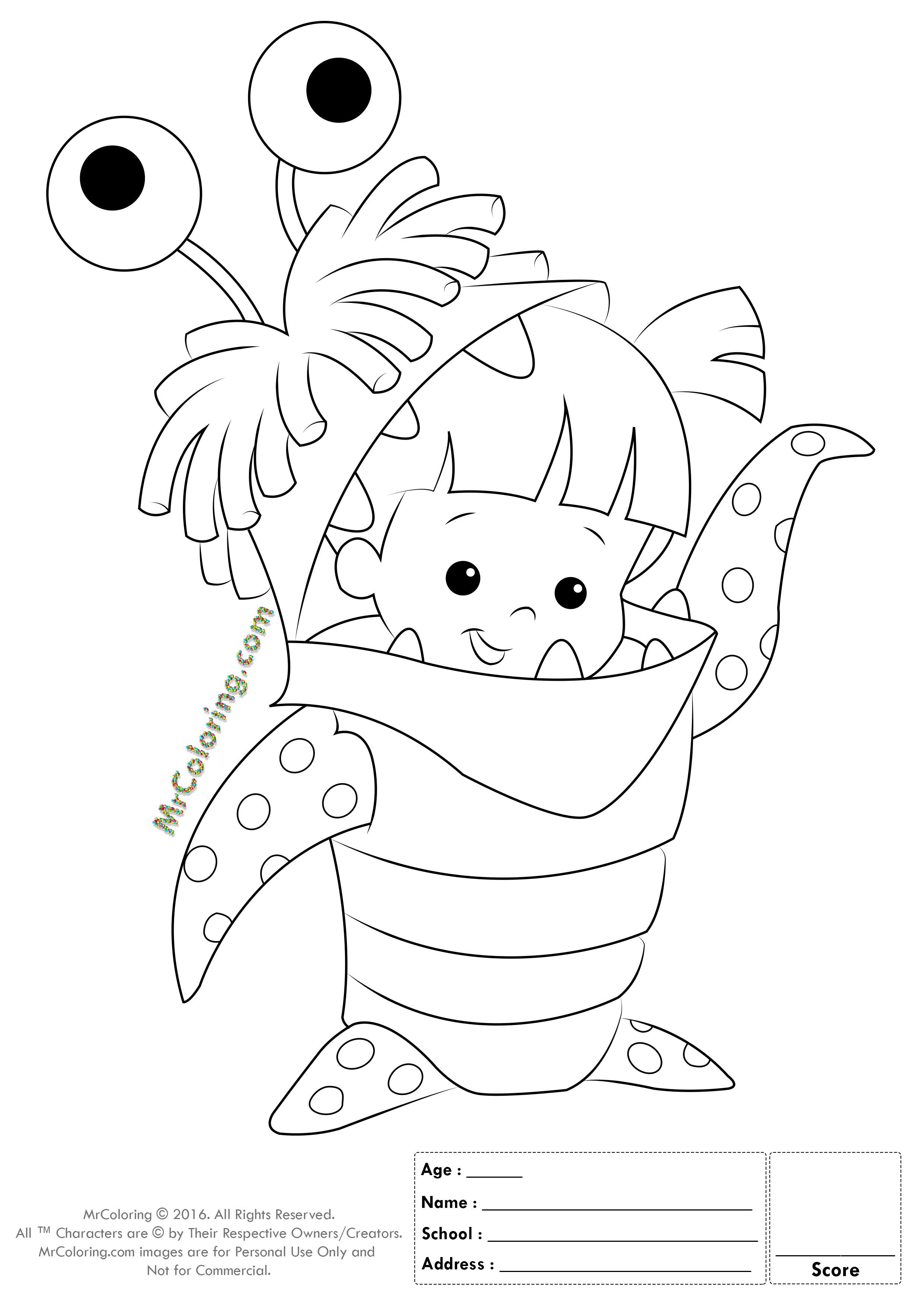 2480x3508 astonishing monsters inc coloring pages with monster inc coloring