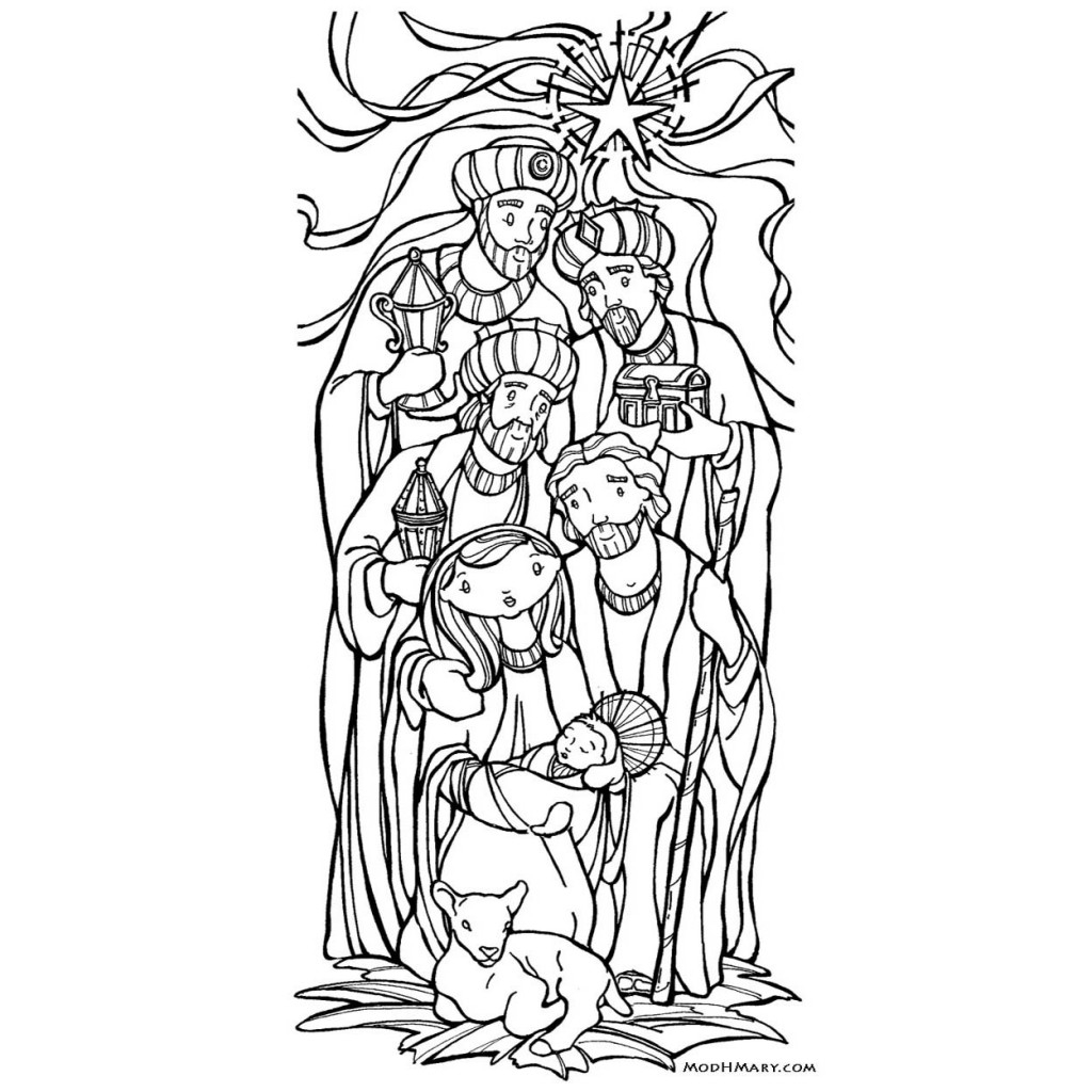 1024x1024 Epiphany Catholic Coloring Page. Free Printable. Catholic