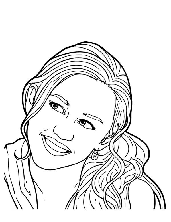 600x776 Picture Of Miley Stewart From Hannah Montana Coloring Page