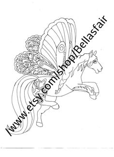 236x324 Hand Drawn Mythical Horse, Coloring, Coloring Page, Fantasy Horse