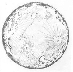 236x234 Moon And Lunar Craters. Doodle Style By Aleks Melnik, Via