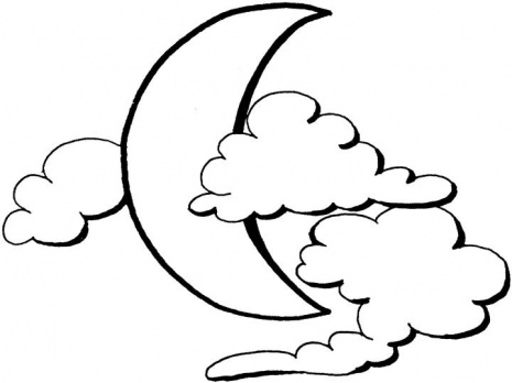 465x348 Sun And Moon Coloring Pages
