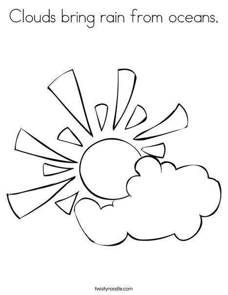 468x605 Clouds Bring Rain From Oceans Coloring Page