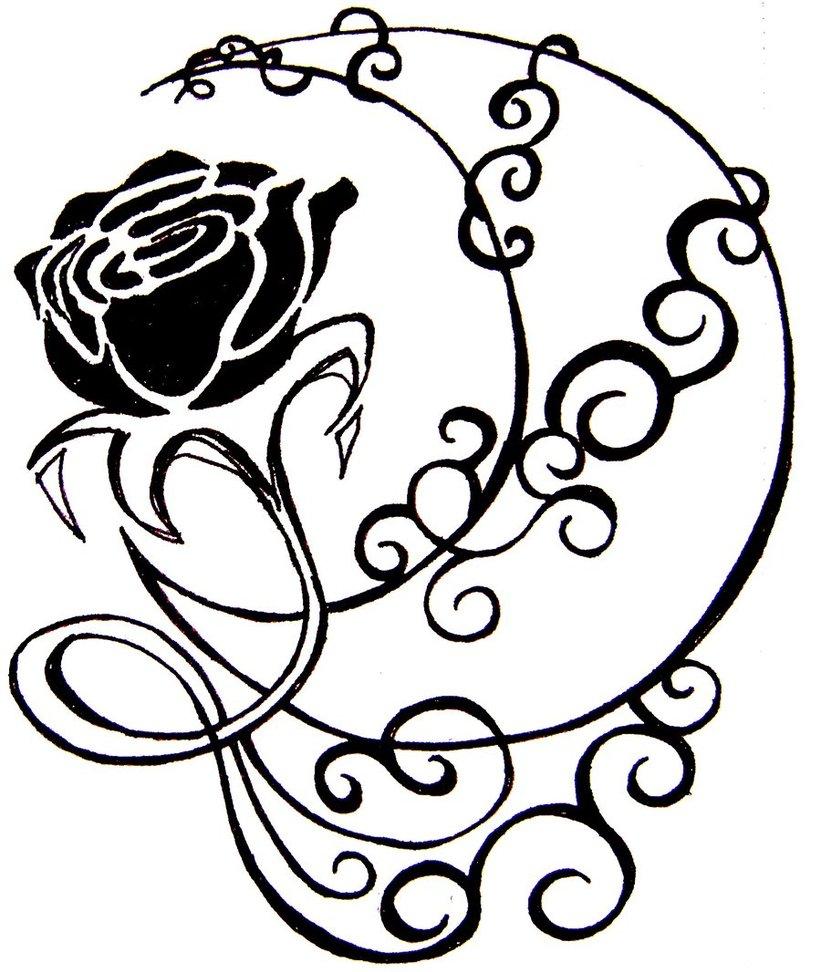 821x972 Pix For Gt Crescent Moon Drawing Tattoo Tattoo'S