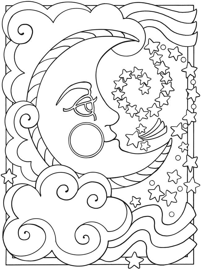 Moon And Stars Drawing At Getdrawings Com Free For Personal Use