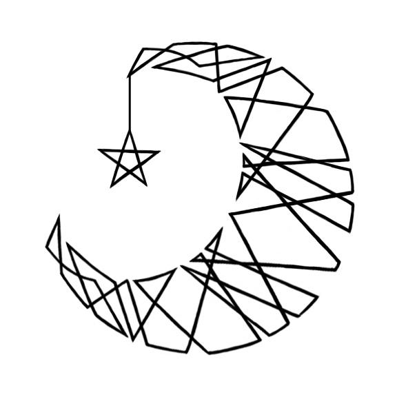 576x576 Drawn Moon Cresent Moon