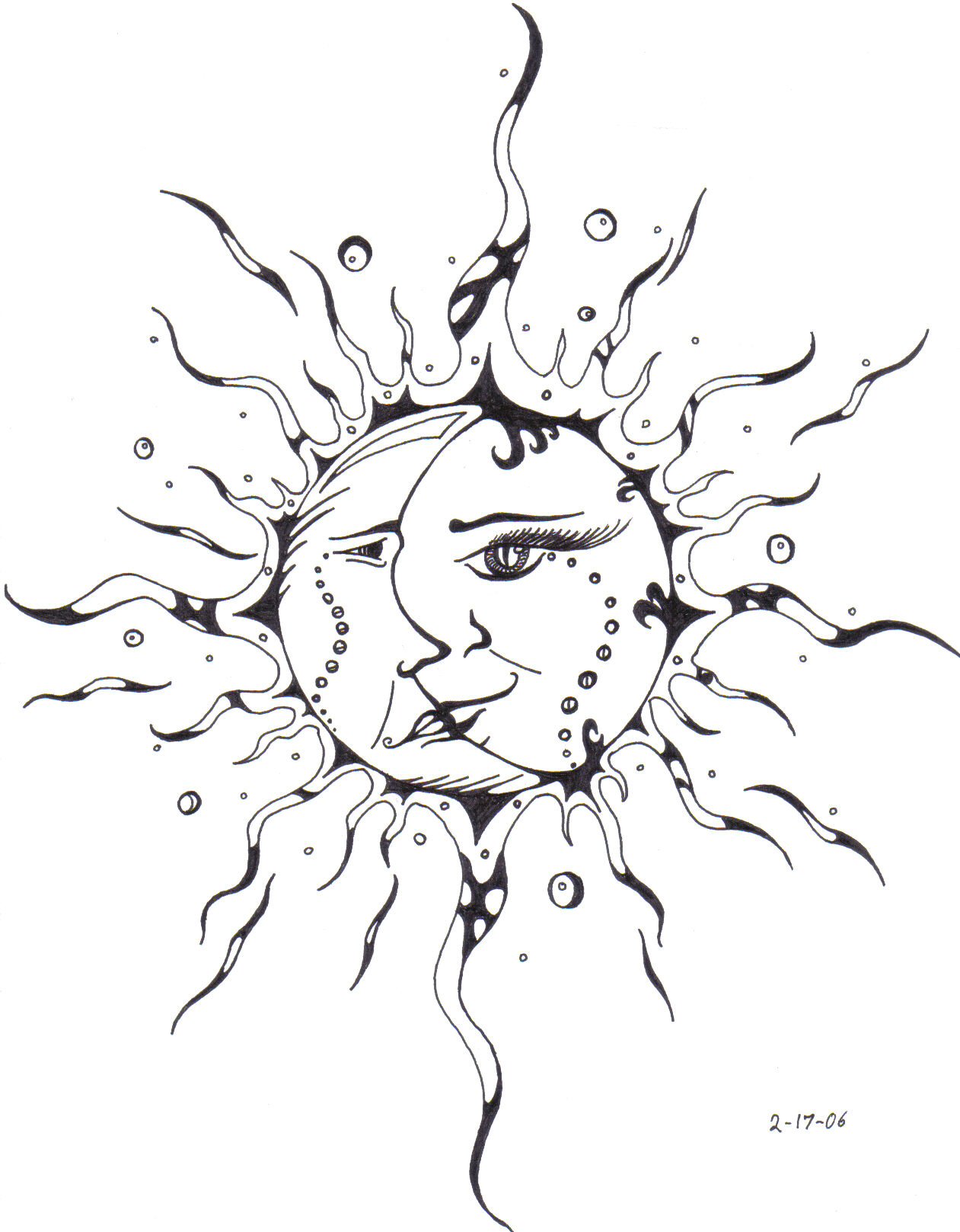 1261x1617 Sun Kissing The Moon Drawing Moon And Sun Drawing Pencil Tattoos