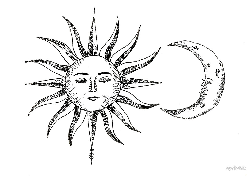 1000x700 Bohemian Sun Amp Moon By Spritshit Redbubble