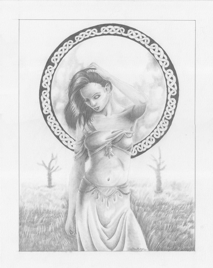900x1131 Celtic Moon Goddess By Kaylin