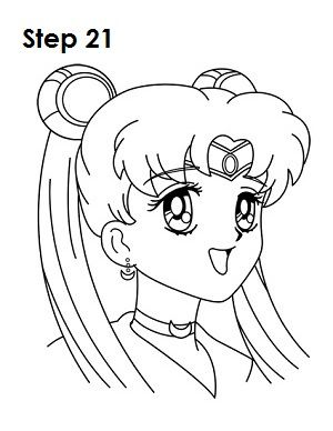 300x388 How To Draw Sailor Moon Step 21 Journals Sailor
