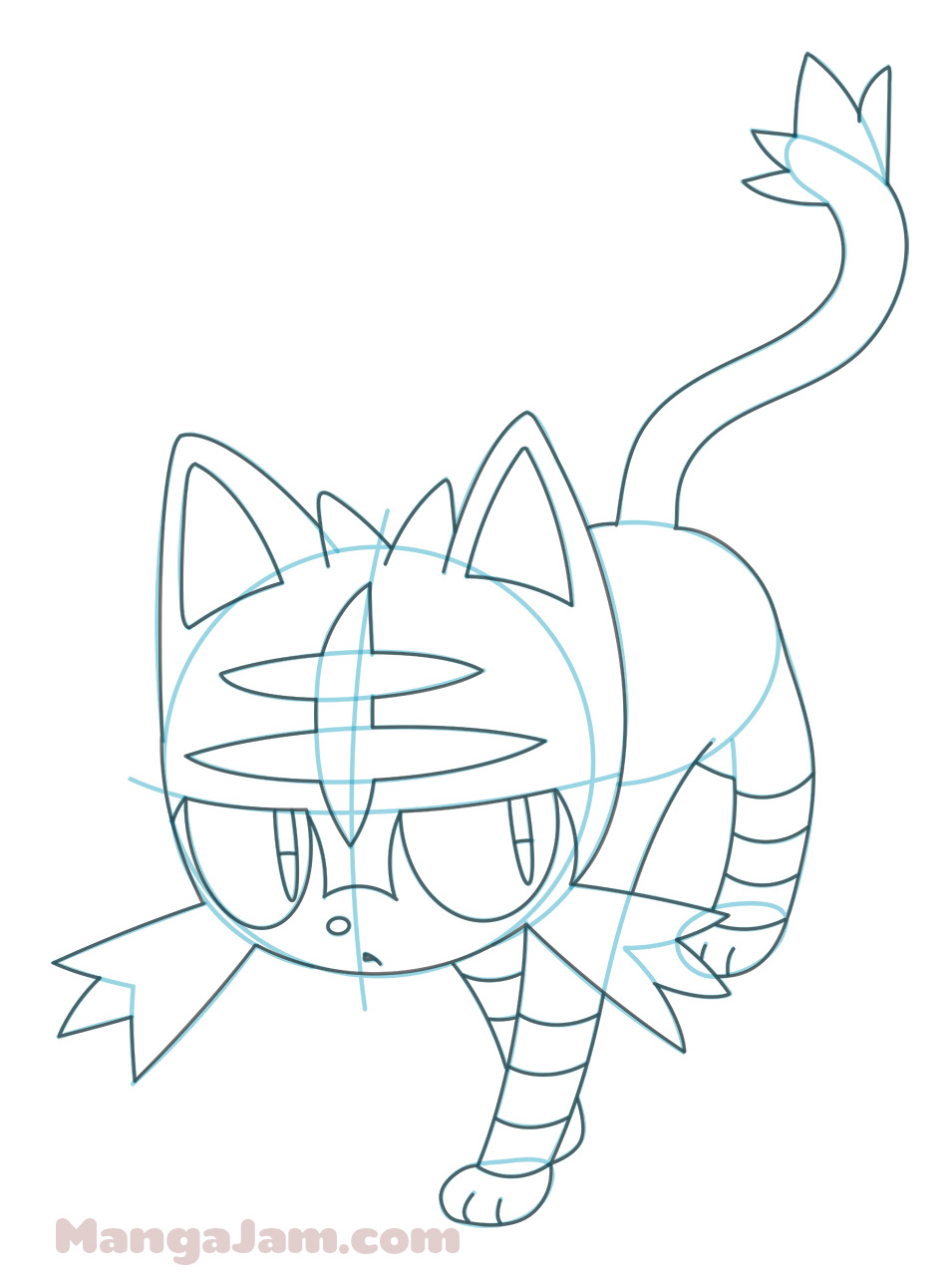 955x1280 How to Draw Litten from Pokemon Sun and Moon