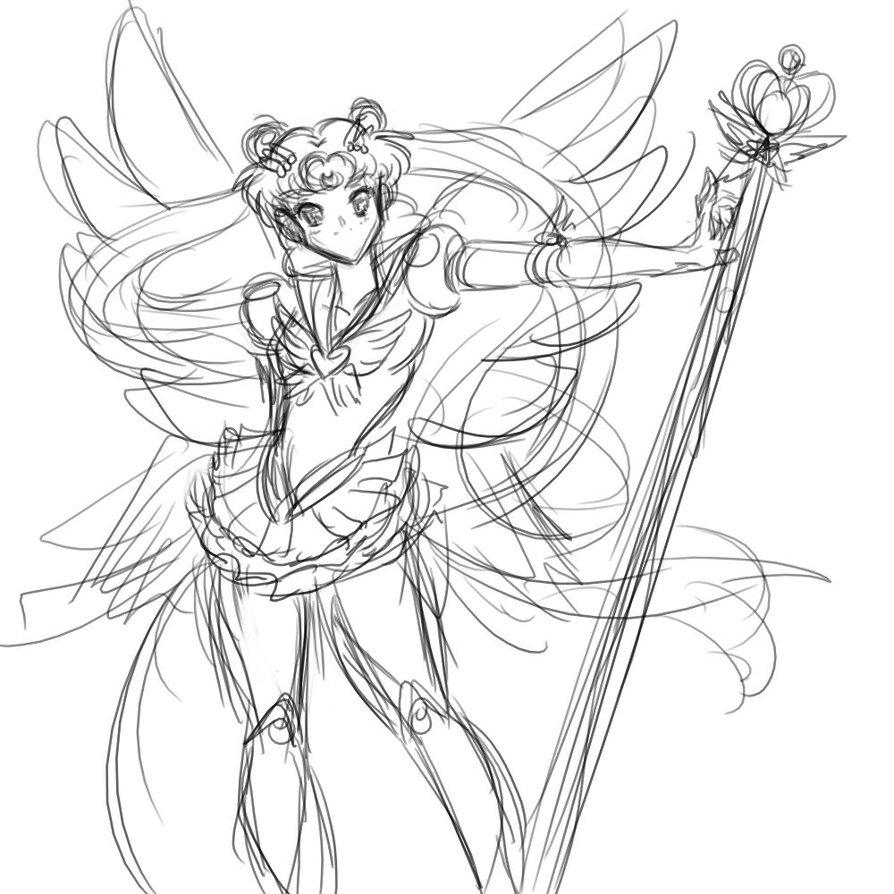 894x894 Crappy Sailor Moon Sketch by KensukeTheCat on DeviantArt