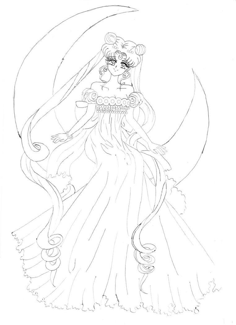 762x1048 Sailor Moon Princess Serenity By Irinaselena