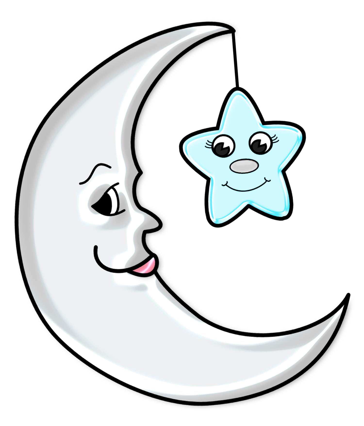 1500x1759 Cute Moon With Star Transparent Png Pictureu200b Gallery