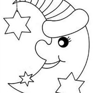 300x300 How To Draw Moon Coloring Page Coloring Sky