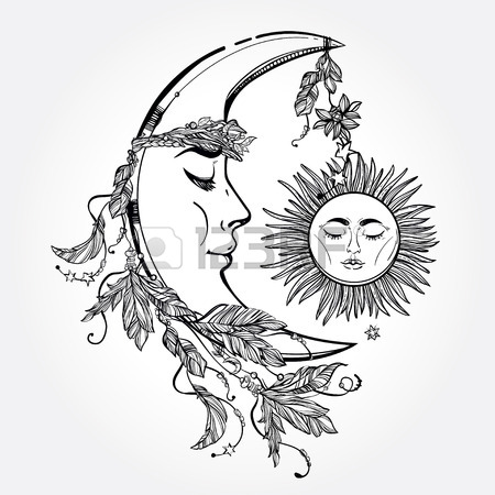 450x450 Sun And Moon Stock Photos. Royalty Free Business Images