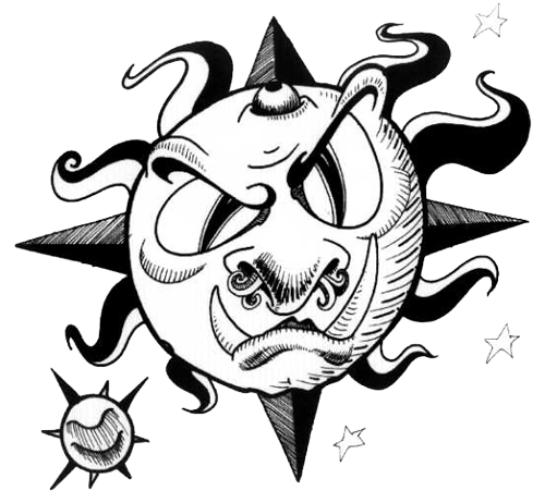 500x462 Moon Star Tattoos High Quality Photos And Flash Designs Of Moon