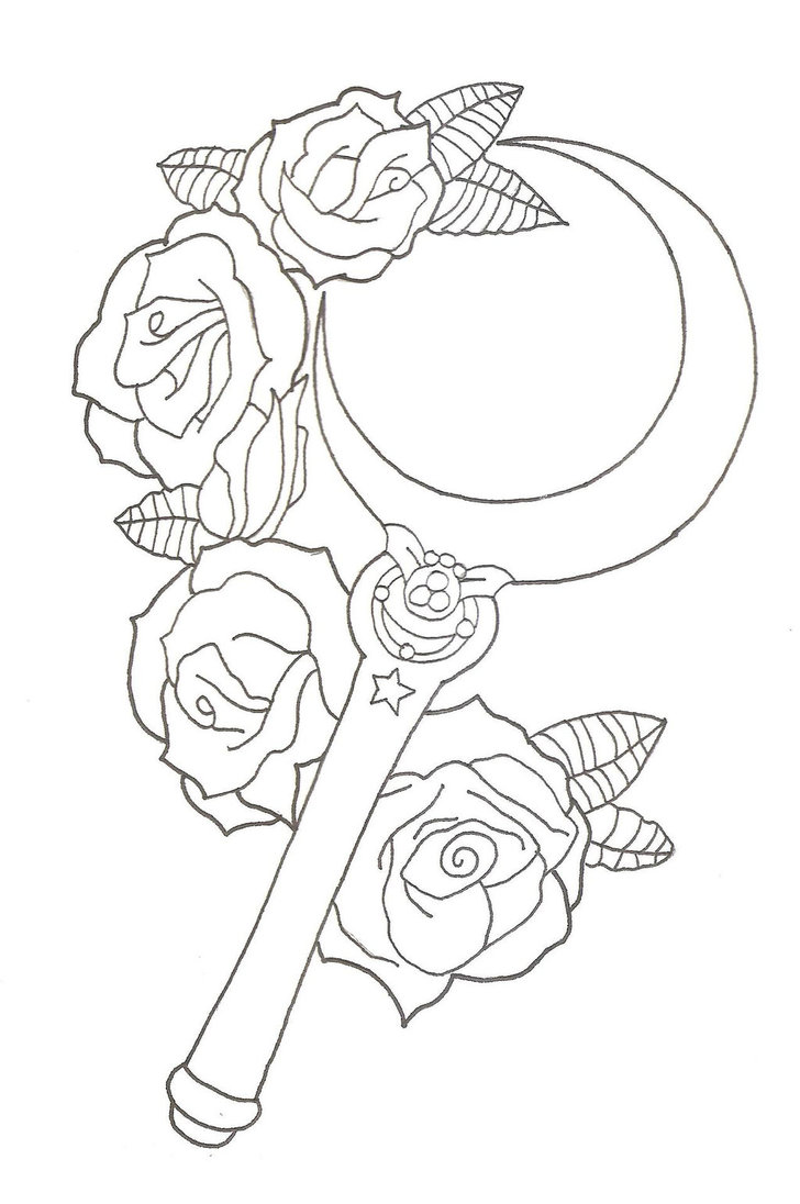 728x1096 Sailor Moon Moon Stick Tattoo Design By Xxzombieprincexx