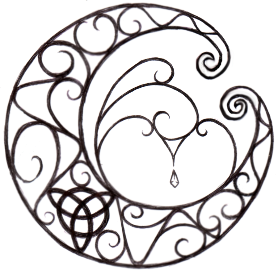 900x888 Wicca Moon Tattoo By Littlenatnatz101
