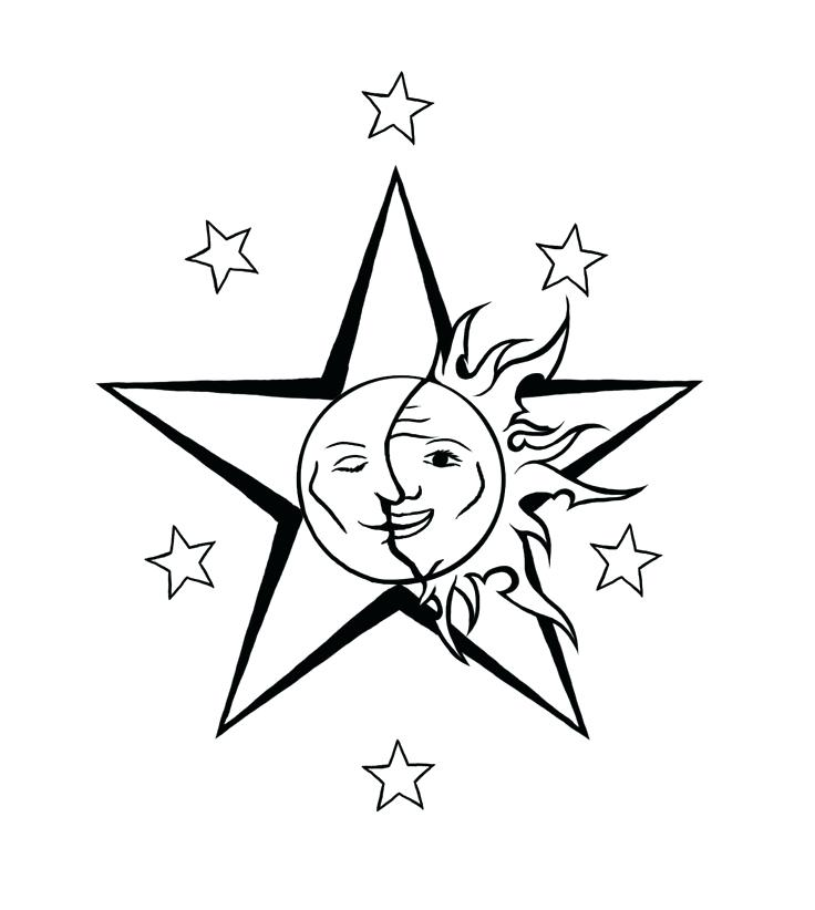 736x822 Tattoo Moon And Stars Designs