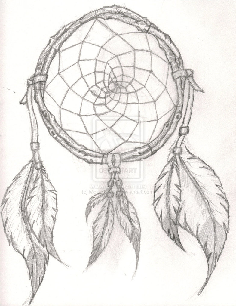 Moon Dreamcatcher Drawing At Getdrawings