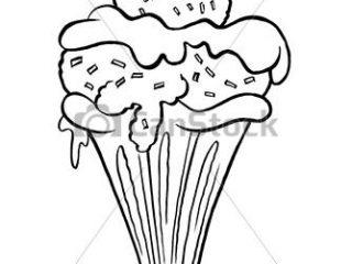 320x240 Ice Cream Sundae Drawing Ice Cream Sundae Outline Cartoon Of Ice