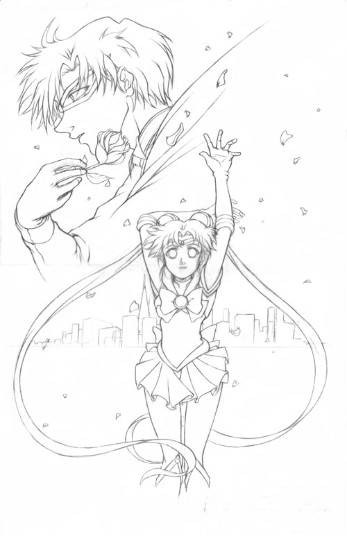 500x773 Sailor Moon N Tuxedo Pencils By Darkchildx2k