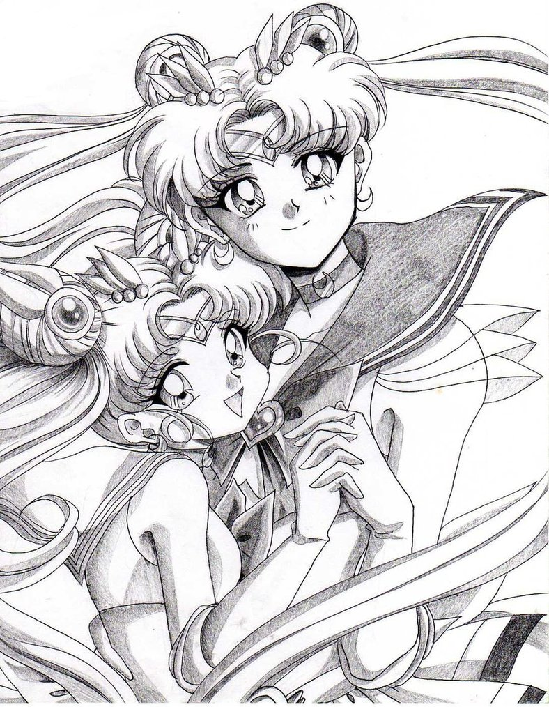 788x1014 Sailor Moon And Daughter By Rurutia8