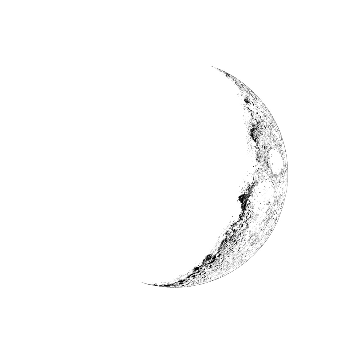 1148x1148 Cresent Moon Drawing Drawn Lunar Crescent Moon