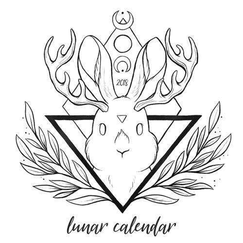 500x500 Lunar Calendar 2018 Tumblr
