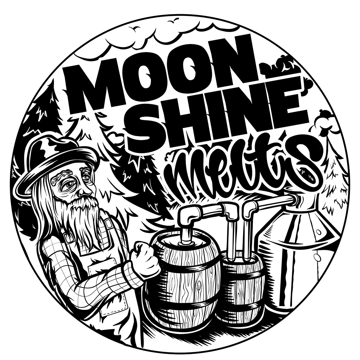 Moonshine Still Drawing At Free For Personal Use Diagram Related Keywords Suggestions 1200x1200 Melts Graphic On Behance