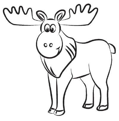 400x406 How To Draw A Moose In 5 Steps Moose, Antlers And Drawings