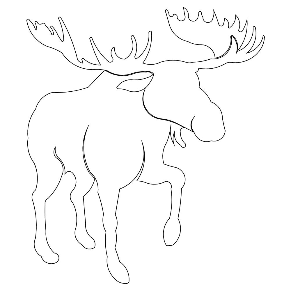 1000x1000 Moose Head Template Default Pattern Height 7.98 Artsy Fartsy
