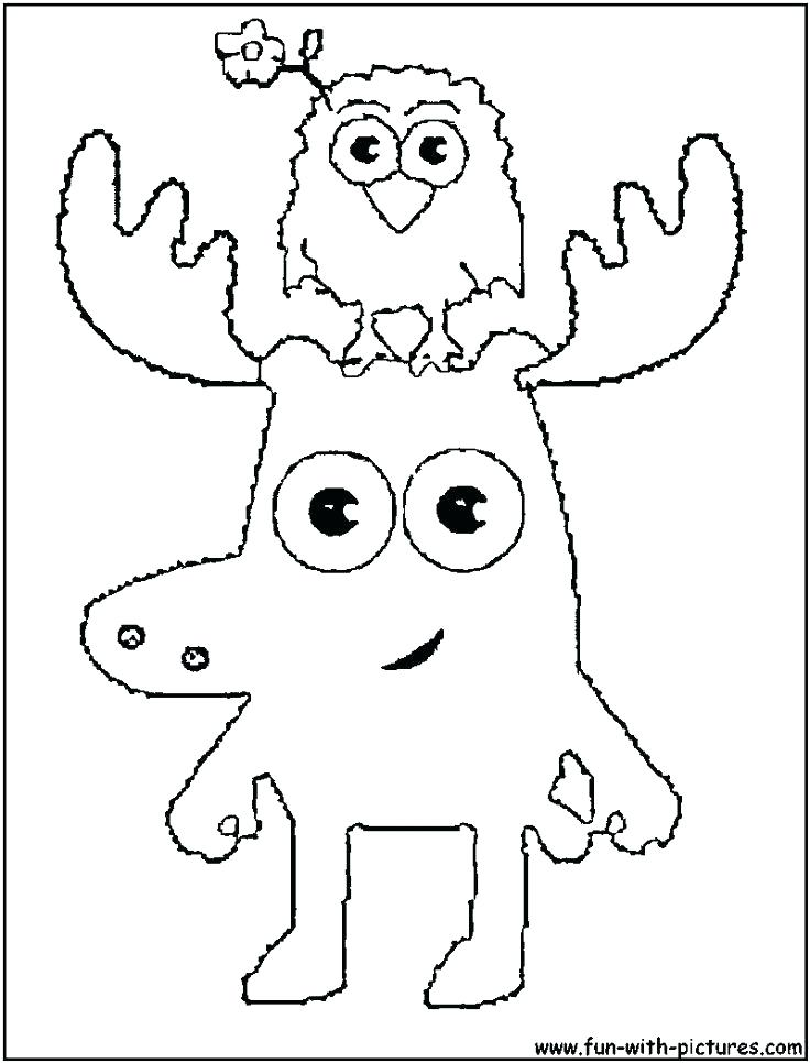 736x966 Awesome Coloring Pages Of Moose Print Cartoon Thumbnail Size Elk