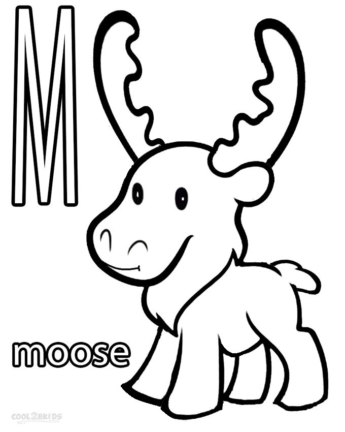 680x850 Printable Moose Coloring Pages For Kids Cool2bkids