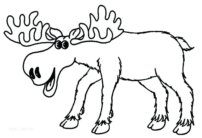 850x580 Moose Animal Coloring Pages Cartoon Moose Coloring Pages Coloring