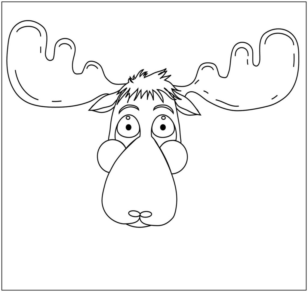 1024x972 Moose Coloring Pages
