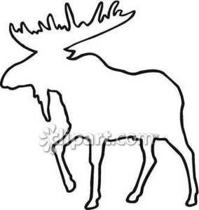 284x300 Outline Of Moose Royalty Free Clipart Picture Moose
