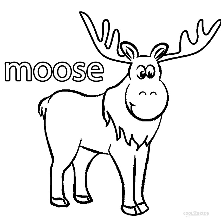 It's just a photo of Vibrant Moose Template Printable