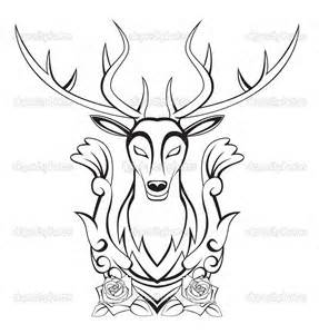 287x300 Stag Head Outline