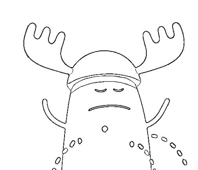 650x559 Coloring Page Dumb Ways To Die Dress Up Like A Moose During