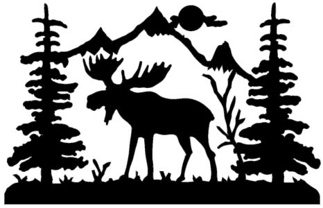 moose line drawing at getdrawingscom free for personal