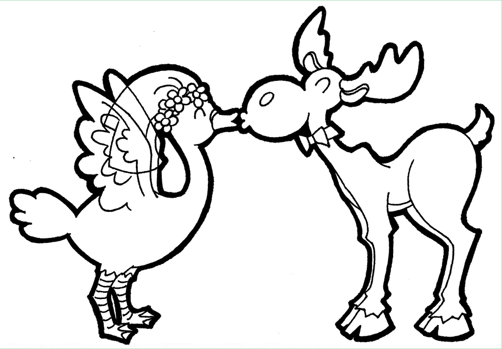 1024x713 Have You Ever Seen A Moose Kissing A Goose By Avidartist1836