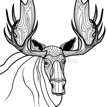 450x450 Bull Moose Stock Vectors, Royalty Free Bull Moose Illustrations