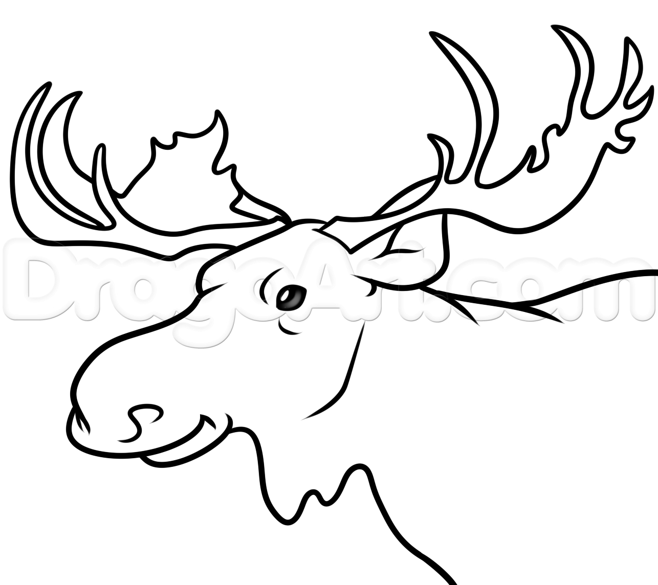 1286x1144 Drawing Of A Moose Drawing Drawing Of A Moose 63 For Your Free