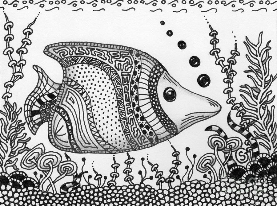 900x671 Zentangled Fish