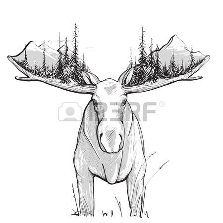 450x450 395 Bull Moose Stock Vector Illustration And Royalty Free Bull