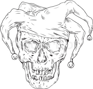 320x307 Drawing Sketch Style Illustration Of A Cowboy Skull Chef Cook